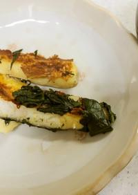♥鱈のほうれん草炒め&ジャガイモの味噌汁