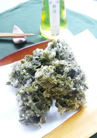 はんば海苔の天ぷら(サクサクかき揚げ)