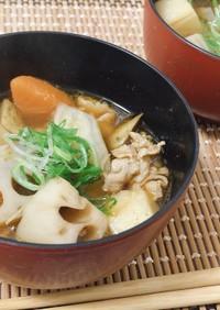 根菜たっぷりピリ辛鍋
