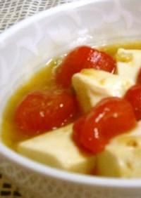 鮮やか☆彡豆腐とトマトの炒め煮