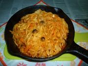 きのこ野菜MIXでナポリタン焼きうどんの写真