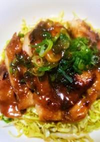 中華風鶏のてりやき丼、醤油鶏飯