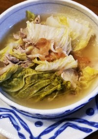 ★豚肉、白菜のミルフィーユ鍋、梅肉風味★