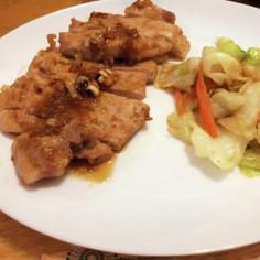 豚ロース肉の韓国風ソテー