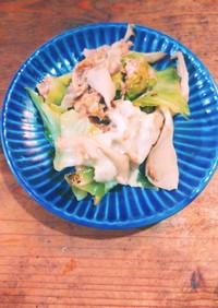 舞茸とツナ缶のキャベツチーズ炒め