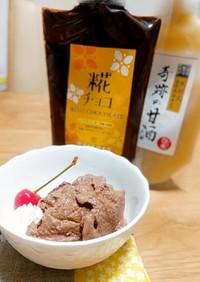 米麹甘酒と豆乳でチョコアイス
