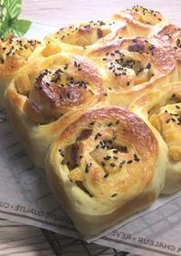ポリ袋deさつま芋の甘煮ちぎりパン