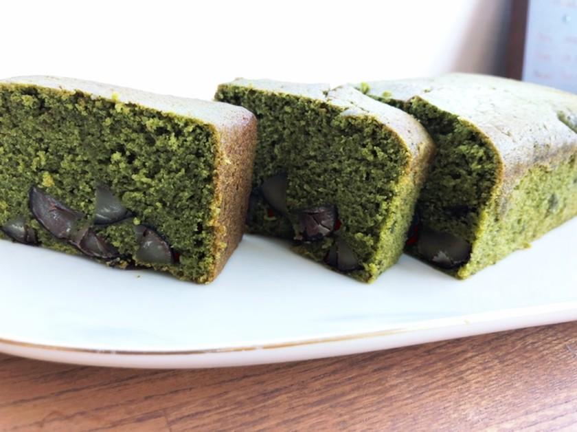 栗と抹茶のパウンドケーキ
