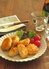 海老しんじょうのアーモンドチーズ焼き