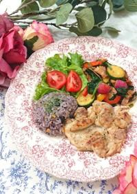 ★ハーブチキンステーキと野菜のソテー