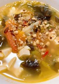 焼きトマトともち麦の食べる洋風スープ