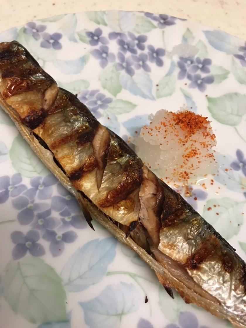 秋刀魚の塩焼き!!