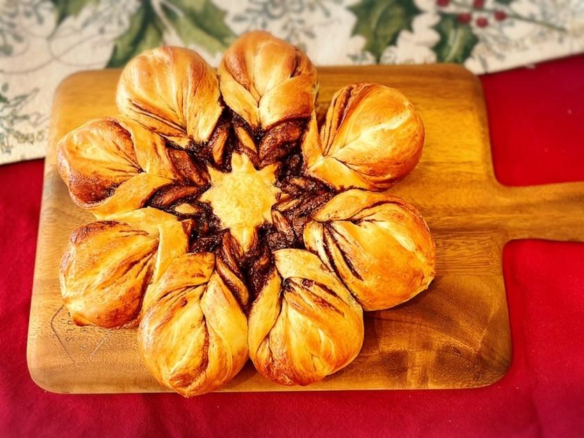 クリスマスに☆雪の結晶パン☆