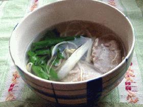 秋田名産!!塩魚汁(しょっつる)で鰯スープ