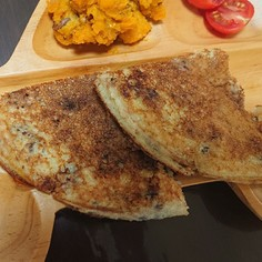 生米から作るパンケーキ