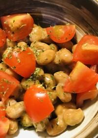 毎日の納豆●プチトマト&ゆず果汁