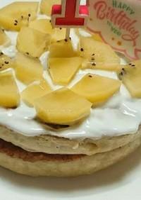 卵不使用 豆腐入り分厚いバナナパンケーキ