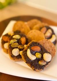 フライパンで☆黒糖アーモンドクッキー