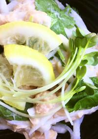 黒酢生姜&塩レモンとツナの減量大根サラダ