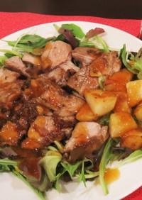 豚塊肉の柔らかソテーおろしゆず風味