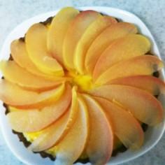 スイートポテトとリンゴのタルト