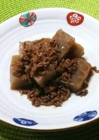 挽肉とこんにゃくのピリ辛炒め