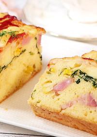 HMで作るベーコンチーズのパウンドケーキ