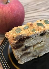 【簡単】酒粕りんごオートミールケーキ