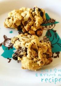 かんたん!玄米グラノーラと米粉のクッキー