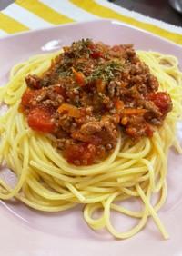簡単絶品トマト缶ですぐできるミートソース