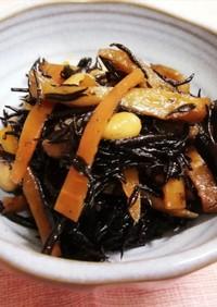 ひじきの煮物(&手作り大豆の水煮)