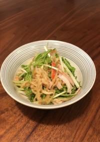 水菜と切干大根のすり胡麻ポン酢和え