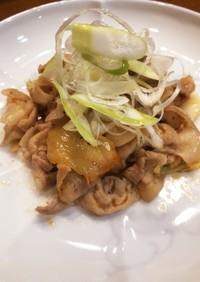 豚バラ肉と白菜の漬け物炒め