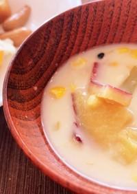 鍋の残りで簡単!あったか豆乳スープ