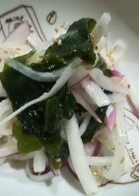 カラシソースでサラダ