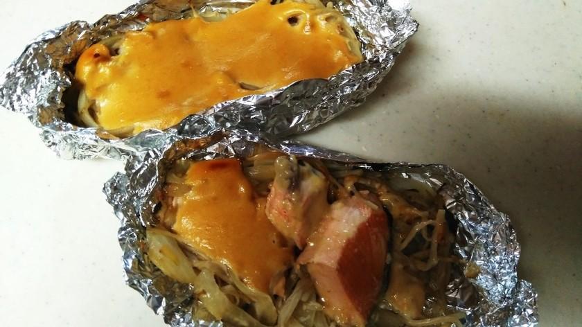 鮭のちゃんちゃん焼き(ホイル焼き)