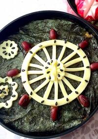 スライスチーズ 法輪と花