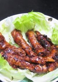 時短簡単☆レンコンの豚肉巻き中華ソース