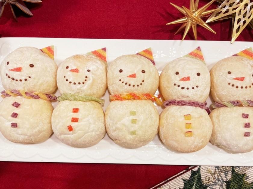 クリスマスに♫雪だるまパン