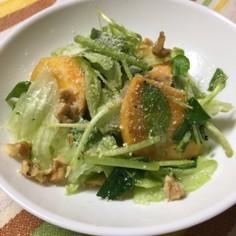 柿とクレソンのサラダ