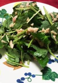 三つ葉とシーチキンのサラダ
