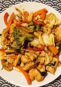 南蛮チキンの野菜炒め