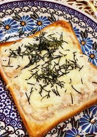 朝食に♪和風ツナマヨチーズトースト