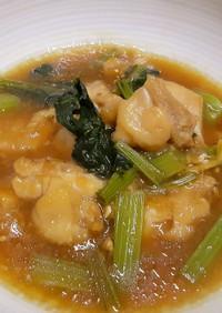 鶏もも肉と小松菜のあったか治部煮風