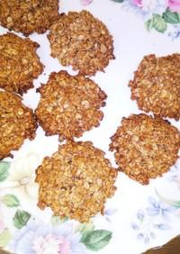 ココナッツオイルでオートミールクッキー