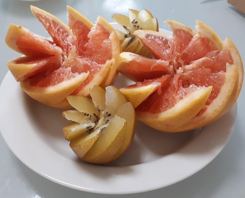 グレープフルーツの簡単飾り切り
