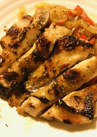 鶏もも肉の丸ごとメイプルシロップステーキ