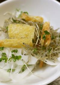 大根とジャコと油揚げのサラダ
