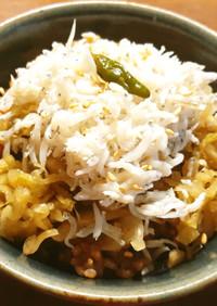 ザワークラウト&しらす丼(玄米酵素ご飯)