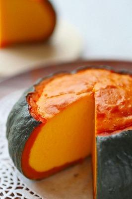 カボチャまるごと ベイクドチーズケーキ レシピ デザート